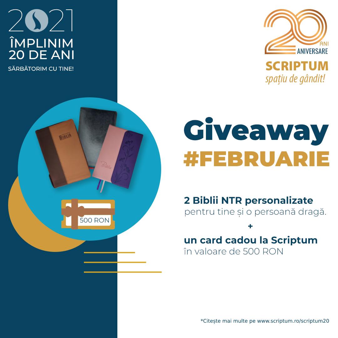 Scriptum#20 - Giveaway februarie